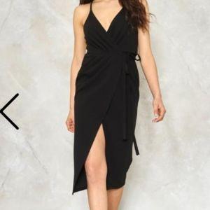 Split Ways Wrap Dress from Nasty Gal